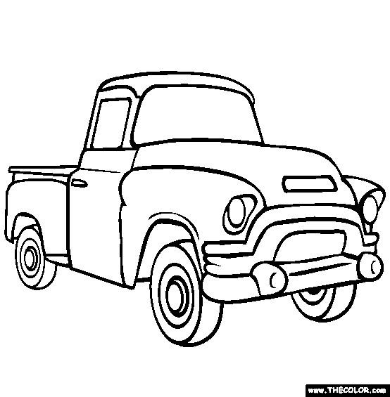 Coloriage et dessins gratuits Camionnette 14 à imprimer
