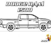 Coloriage et dessins gratuit Camionnette 16 à imprimer
