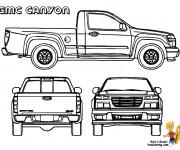 Coloriage et dessins gratuit Camionnette 18 à imprimer