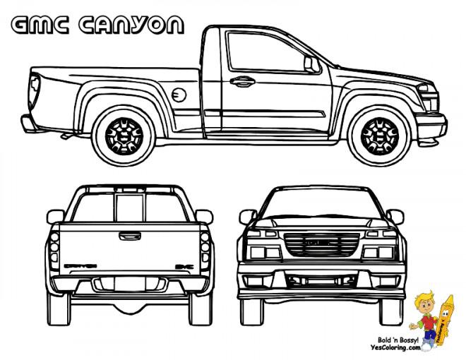Coloriage Camionnette.Coloriage Camionnette 18 Dessin Gratuit A Imprimer