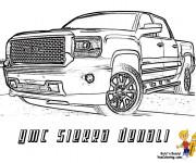 Coloriage et dessins gratuit Camionnette 19 à imprimer