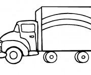 Coloriage et dessins gratuit Camionnette 2 à imprimer