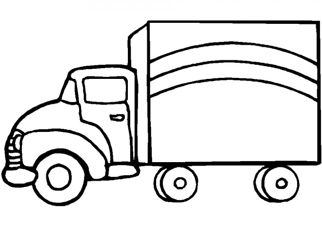 Coloriage et dessins gratuits Camionnette 2 à imprimer