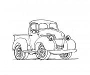 Coloriage et dessins gratuit Camionnette 21 à imprimer