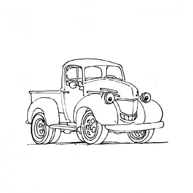 Coloriage et dessins gratuits Camionnette 21 à imprimer