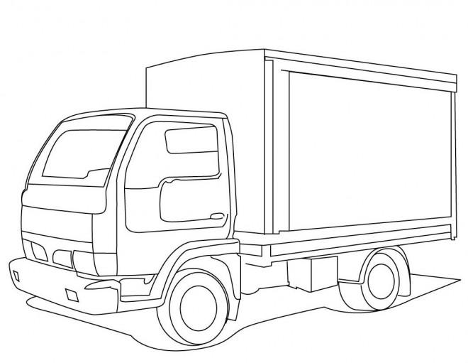 Coloriage et dessins gratuits Camionnette 23 à imprimer