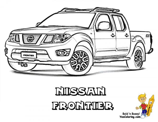 Coloriage et dessins gratuits Camionnette 24 à imprimer