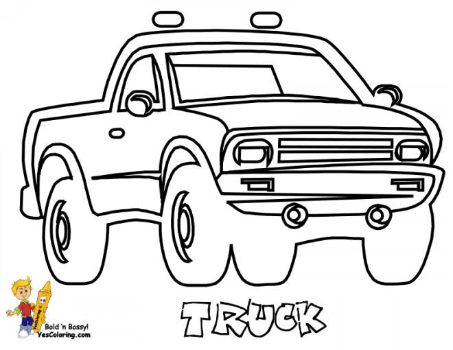 Coloriage et dessins gratuits Camionnette 29 à imprimer