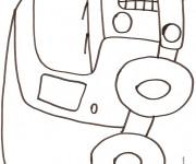 Coloriage et dessins gratuit Camionnette 4 à imprimer
