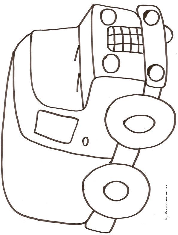 Coloriage et dessins gratuits Camionnette 4 à imprimer