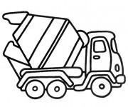 Coloriage et dessins gratuit Camionnette bétonnière à imprimer