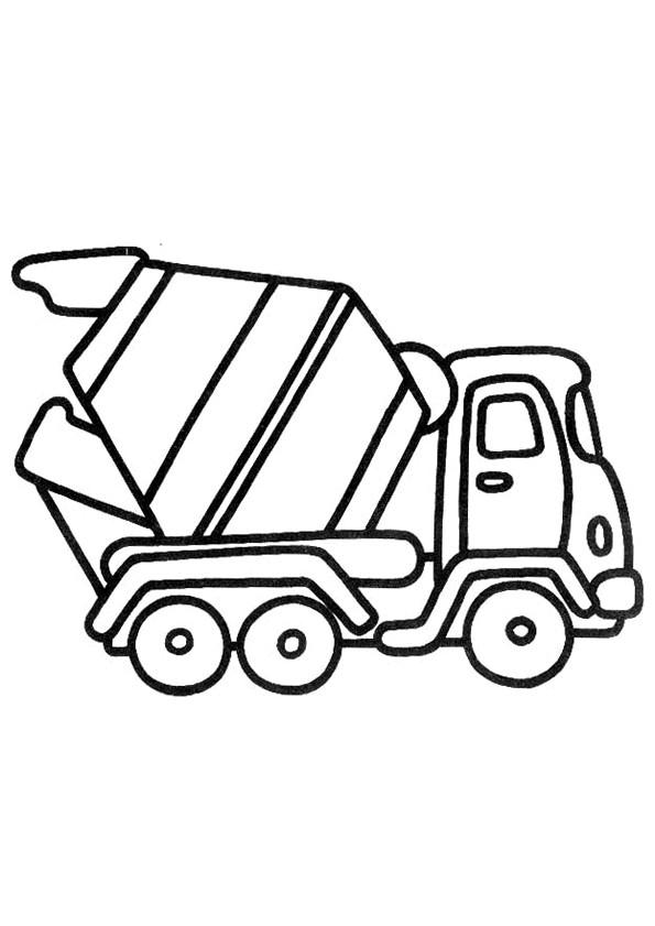 Coloriage et dessins gratuits Camionnette bétonnière à imprimer