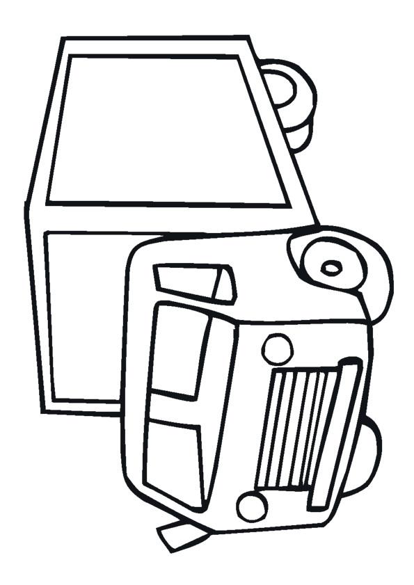 Coloriage et dessins gratuits Illustrations Camion à imprimer