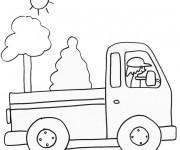 Coloriage et dessins gratuit Un Camion au crayon à imprimer