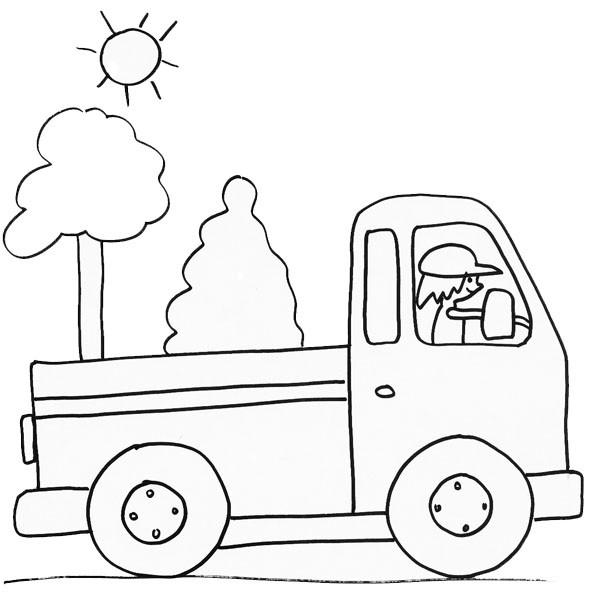 Coloriage et dessins gratuits Un Camion au crayon à imprimer