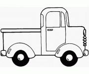 Coloriage et dessins gratuit Une Camionnette à décorer à imprimer