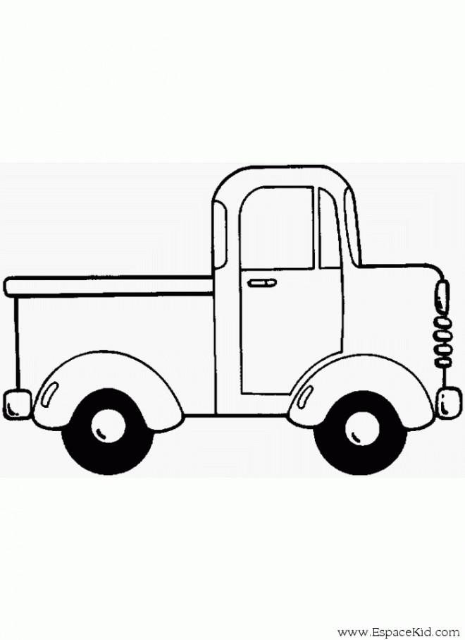 Coloriage Camionnette.Coloriage Une Camionnette A Decorer