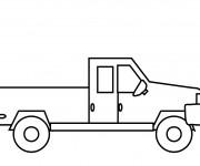 Coloriage et dessins gratuit Une petite Camionnette stylisé à imprimer
