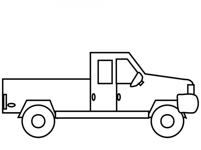 Coloriage et dessins gratuits Une petite Camionnette stylisé à imprimer