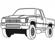 Coloriage Une Voiture Pick Up