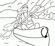 Coloriage Canot