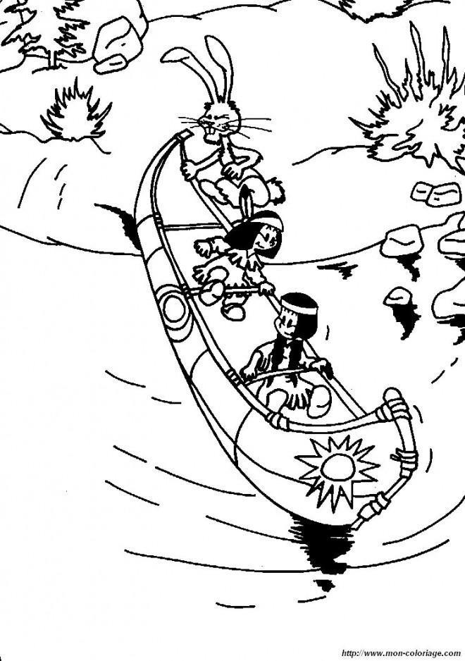 Coloriage et dessins gratuits Amusement sur Le Canot à imprimer