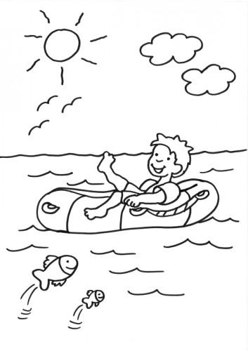 Coloriage et dessins gratuits Canot à colorier à imprimer