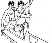 Coloriage et dessins gratuit Canot Athlétisme à imprimer