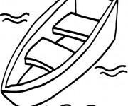 Coloriage et dessins gratuit Canot dans L'eau à imprimer