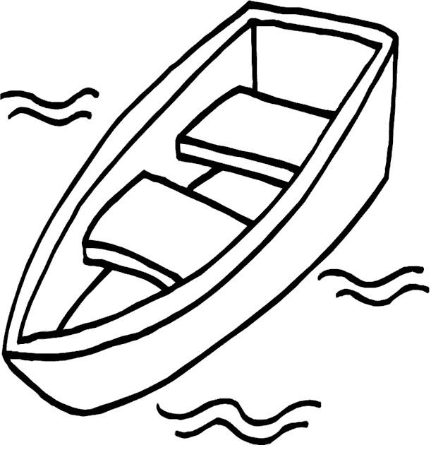 Coloriage et dessins gratuits Canot dans L'eau à imprimer