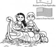 Coloriage et dessins gratuit Canot dessin animé à imprimer
