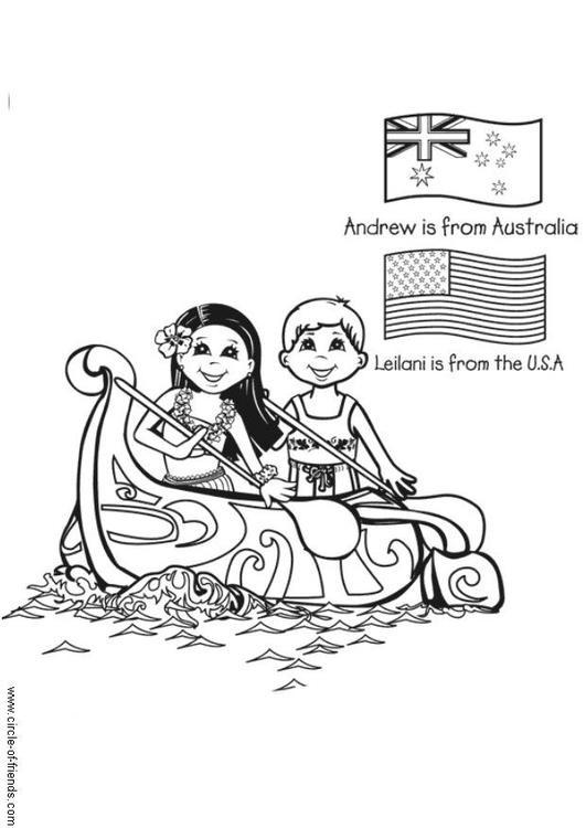 Coloriage et dessins gratuits Canot dessin animé à imprimer