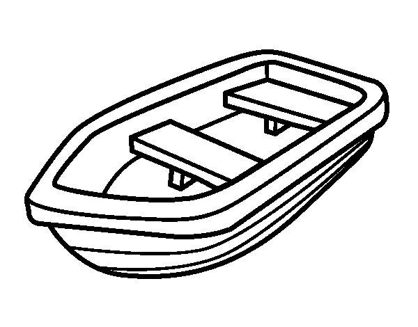 Coloriage et dessins gratuits Canot en noir et blanc à imprimer