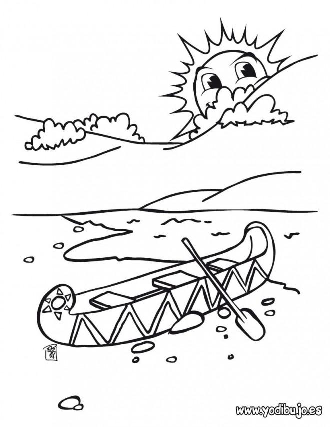 Coloriage et dessins gratuits Canot Navire sur Eau à imprimer