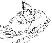 Coloriage et dessins gratuit Canot pour Enfants à imprimer