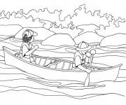 Coloriage et dessins gratuit Canot pour relaxer à imprimer