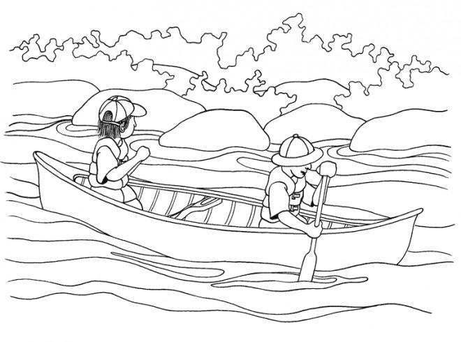 Coloriage et dessins gratuits Canot pour relaxer à imprimer