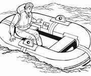 Coloriage Navire dans La Mer