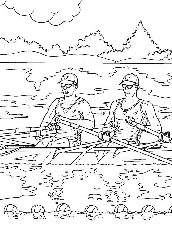Coloriage et dessins gratuits Paysage de Canot sur Rivière à imprimer