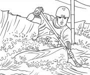 Coloriage et dessins gratuit Sport de Kayak à imprimer