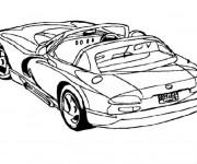 Coloriage Auto cabriolet de luxe