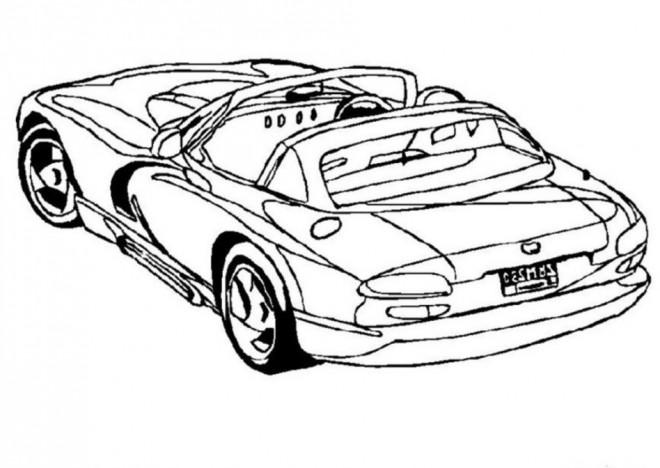 Coloriage et dessins gratuits Auto cabriolet de luxe à imprimer