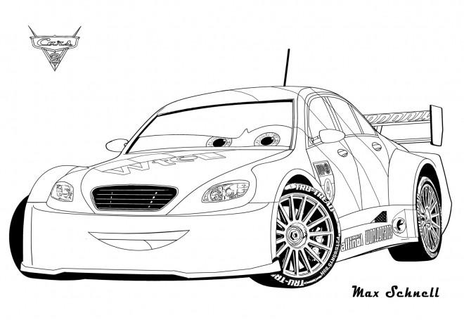 Coloriage et dessins gratuits Auto Cars Max à imprimer