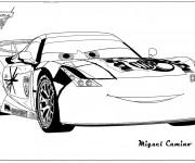 Coloriage Auto de course Miguel Camino