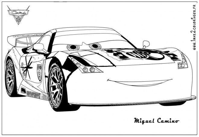 Coloriage et dessins gratuits Auto de course Miguel Camino à imprimer