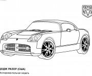 Coloriage Auto de Luxe Dodge