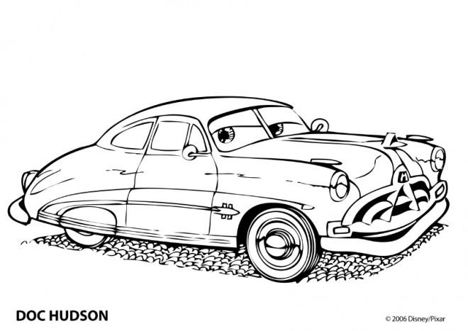 Coloriage et dessins gratuits Auto Doc Hudson à imprimer