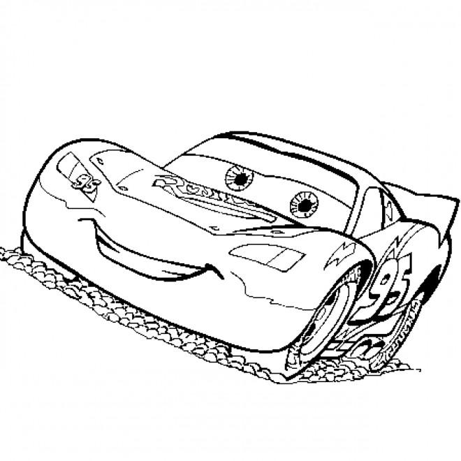 Coloriage et dessins gratuits Auto Flash tout confiant à imprimer