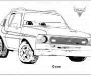 Coloriage et dessins gratuit Auto Grem Cartoon à imprimer