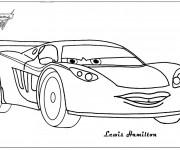 Coloriage et dessins gratuit Auto Lewis Hamilton à imprimer